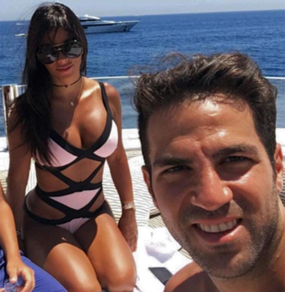 Cesc Fabregas girlfriend reacts to midfielder s display in