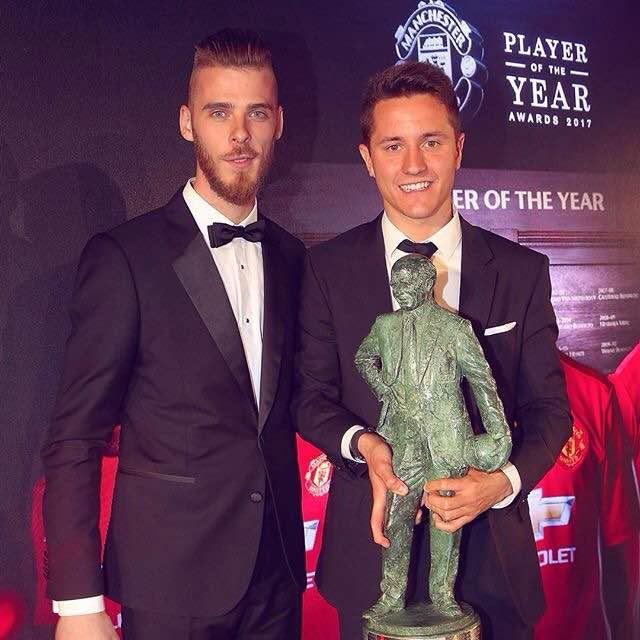 Ander Herrera Wins Man United Player of the Year Award