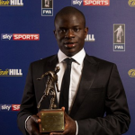 N'Golo Kante picks up Football Writers' Player of the Year award as Chelsea midfielder eyes quadruple next season