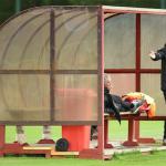 Man United Manager Jose Mourinho Sleeps during Training?