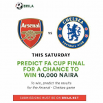 Predict and Win! Join the FA Cup Final Contest and win ₦10,000