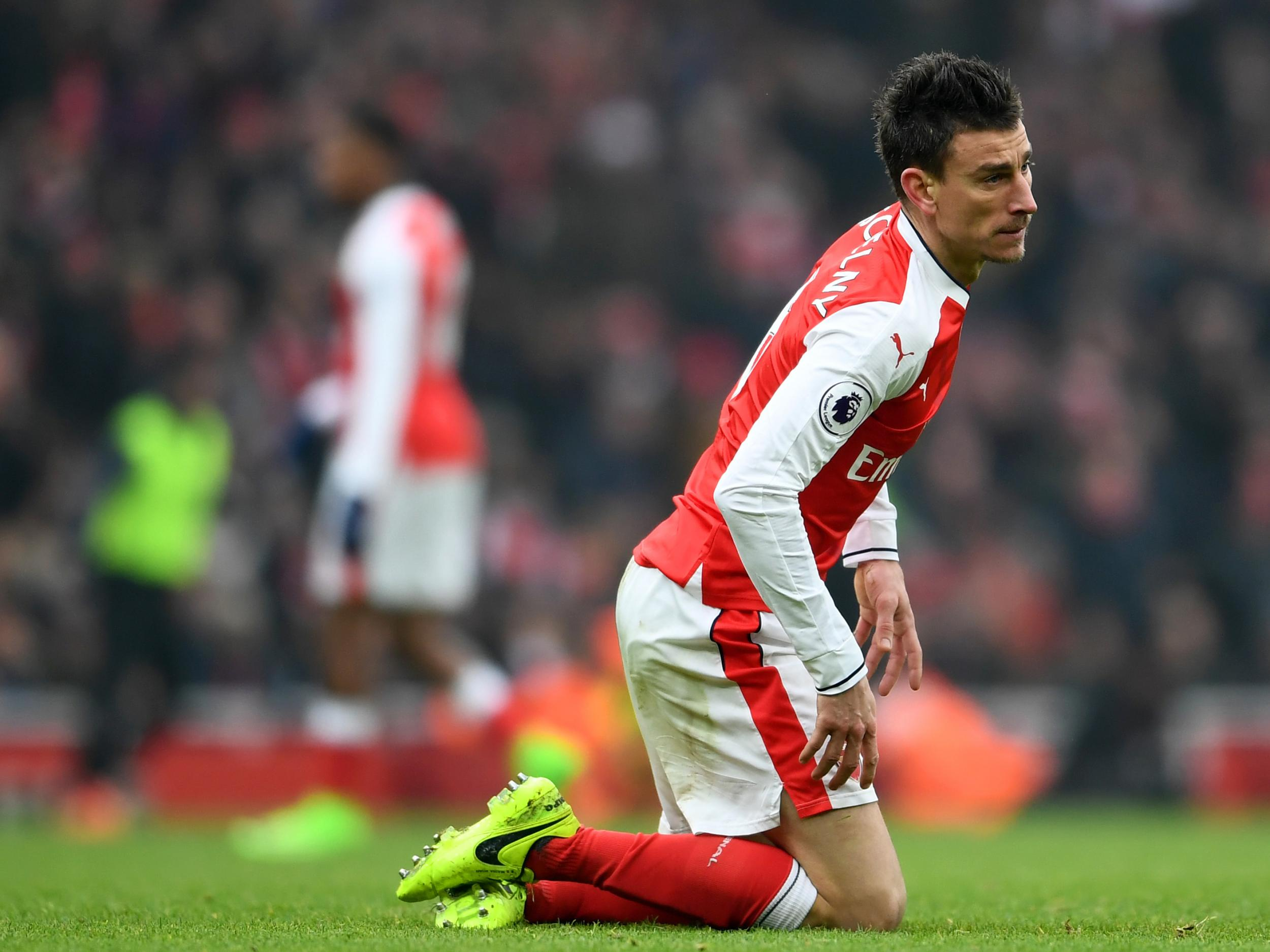 Arsenal defender Laurent Koscielny will need treatment everyday
