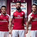 Arsenal unveils 2017/2018 home kit as Ozil and Sanchez style in new material