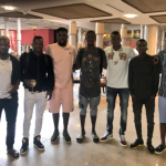 Birthday Boy Henry Onyekuru Arrives Uyo with Super Eagles Mates