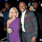 Floyd Mayweather headed to the BET Awards on Sunday in colourful attire
