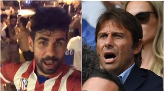 Diego Costa, hug Antonio Conte