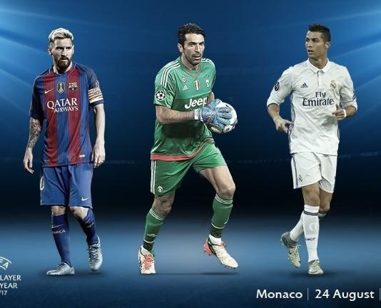 Buffon, Ronaldo, Messi