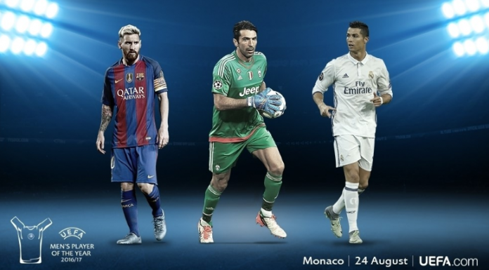 Buffon, Ronaldo, Messi