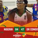 2017 Women's AfroBasket: D'Tigress win Big against DR Congo