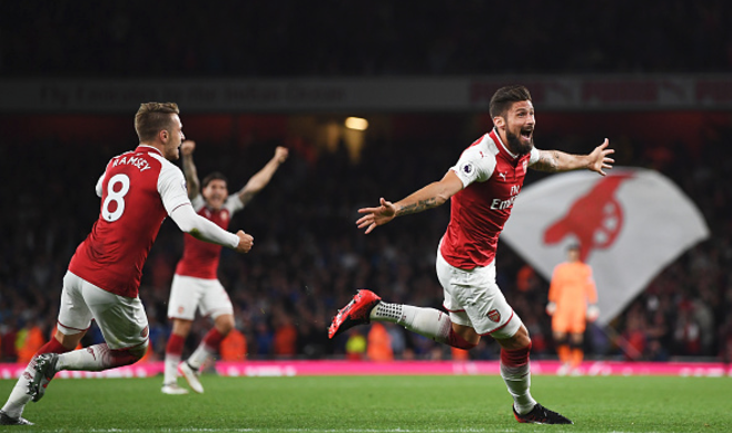 Ramsey, Giroud ruin Iheanacho's Leicester debut in Seven-goal Thriller