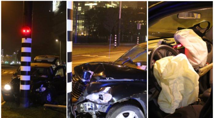 Sergio Aguero, Amsterdam, Car Crash