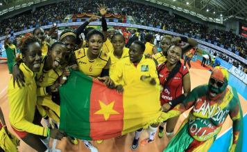 Cameroon defeated Kenya in straight sets to win the championship