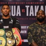 Joshua defends his world heavyweight belts against Carlos Takam today