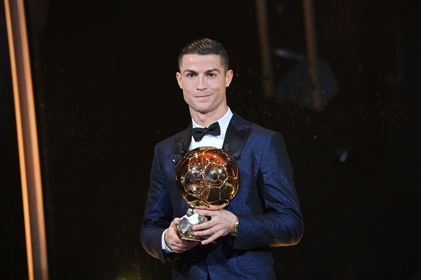 ronaldo pips lionel messi and neymar to fifth ballon d or