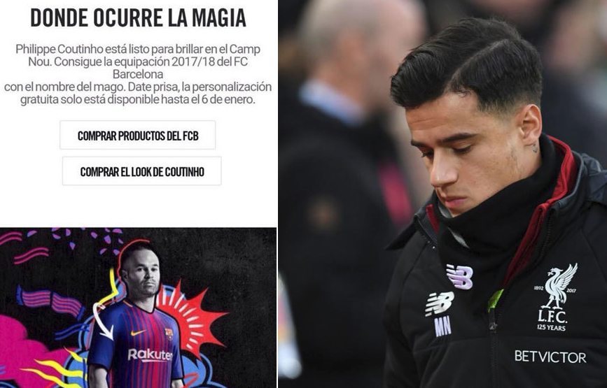 NIKE Sparks further Coutinho to Barcelona Controversy