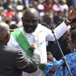 Former Ballon d'Or winner, George Weah sworn in as 25th Liberia president