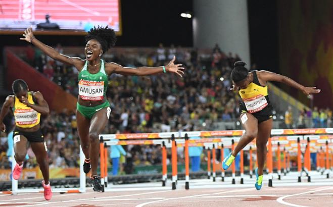 XXI CWG: Amusan Glides to Gold in 100m Hurdles