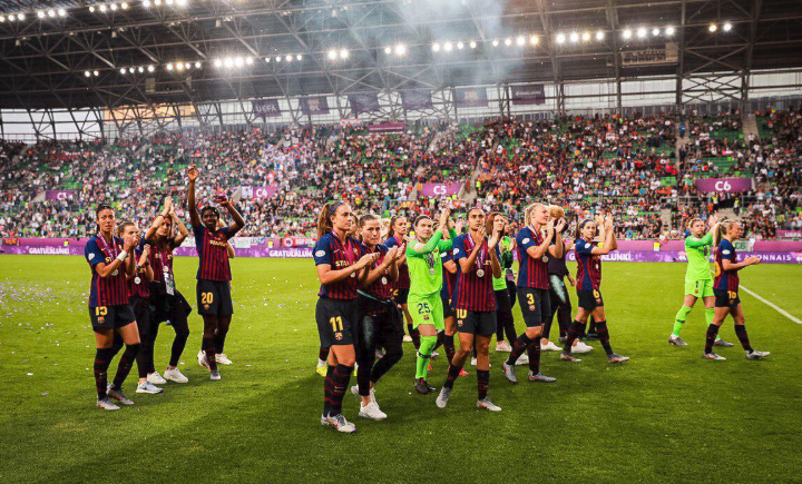 Video: Asisat Oshoala scores Barcelona's first ever goal in the UWCL Final