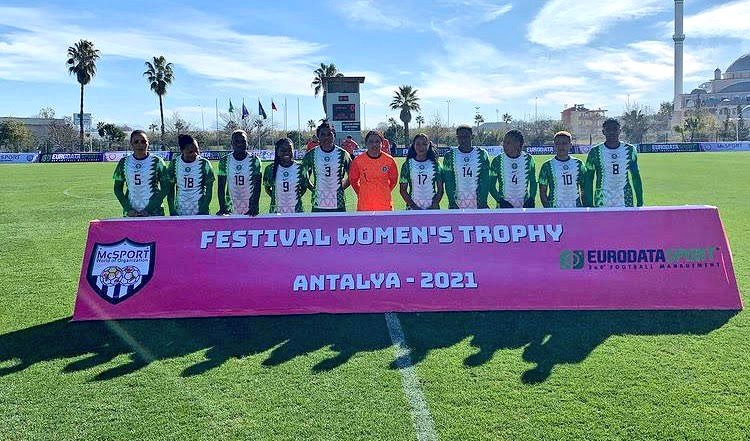 Super Falcons win 2021 Turkish Women's Cup with 9-0 trouncing of Equatorial Guinea