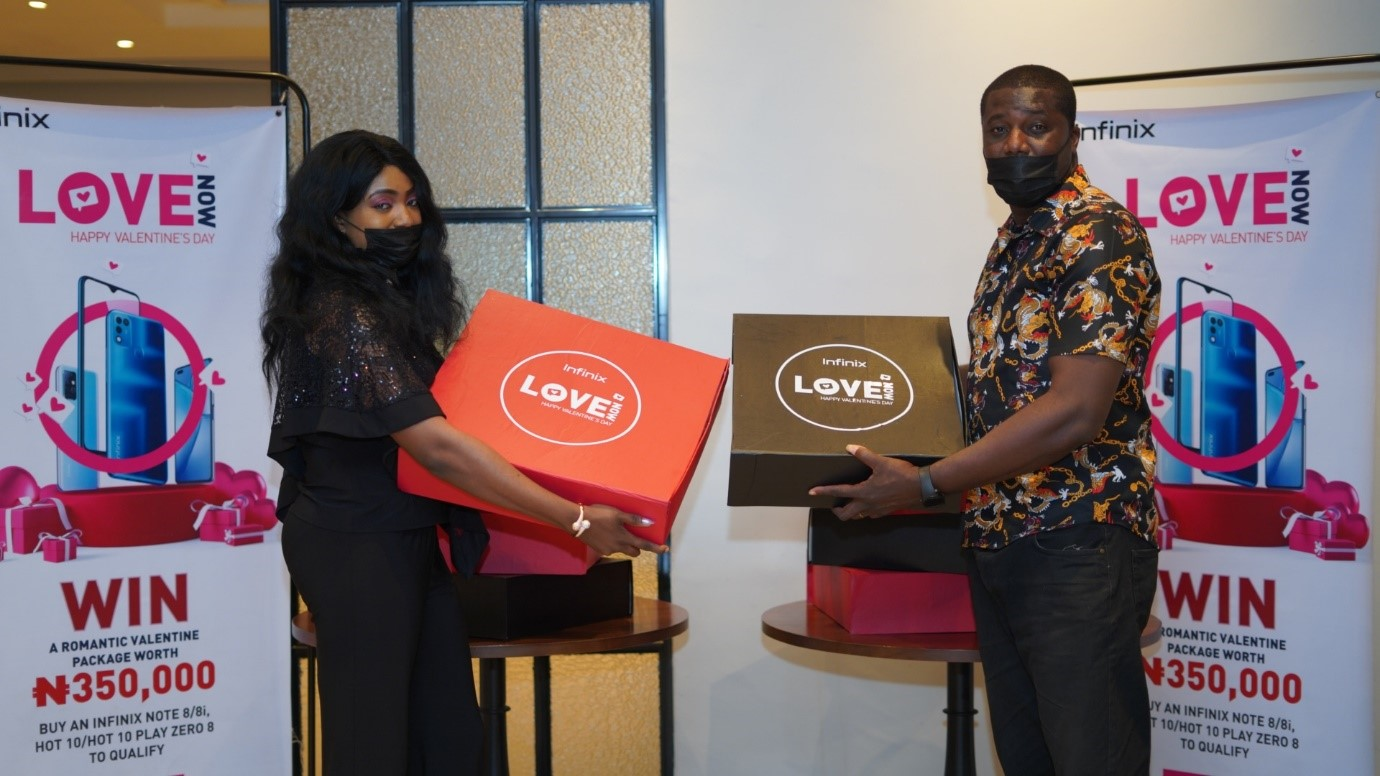 Infinix Rewards Lucky Couples with ₦350,000 Worth of Gift Items in Its Valentine's Campaign