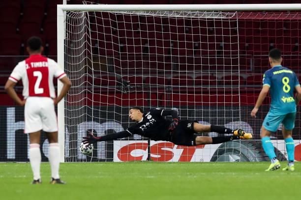Maduka Okoye concedes four against Ajax
