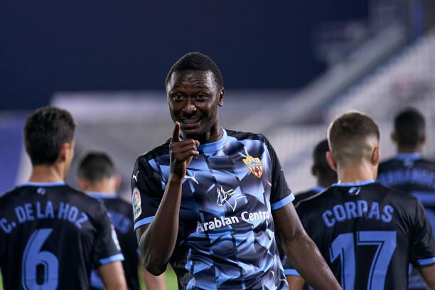 Sadiq Umar scores goal number 18 of the season for Almeria