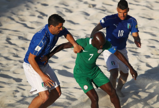 Nigeria 6-12 Italy: Sand Eagles Crumble in Opening World Cup game