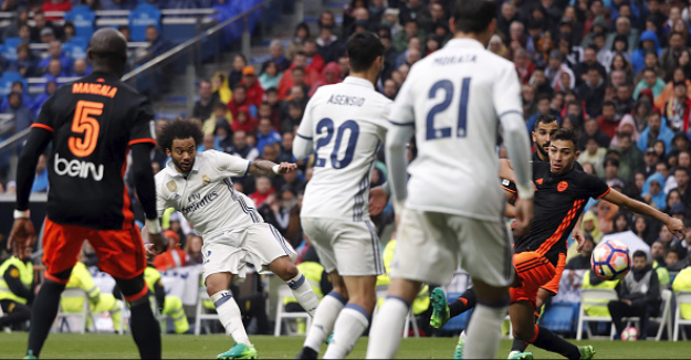 Marcelo rescues Real Madrid in Nervy 2-1 in over Valencia