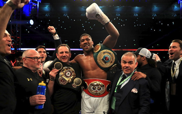 "Carl Ikeme, Deontay Wilder and ""Commando"", Characters at Wembley on Saturday Night"