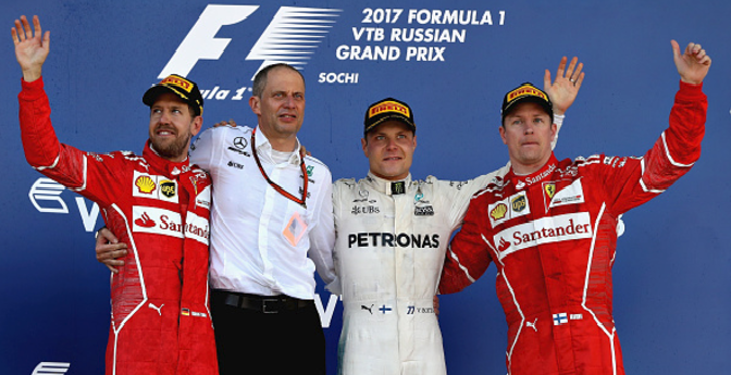 Bottas claims first ever win after holding off Sebastian Vettel charge at Russian Grand Prix