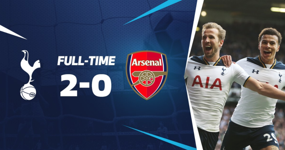 St. Totteringham's Day this Season, Spurs beat Arsenal 2-0