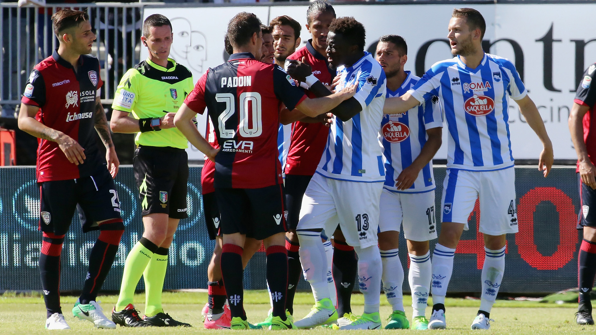Sulley Muntari walks off pitch after being racially abused