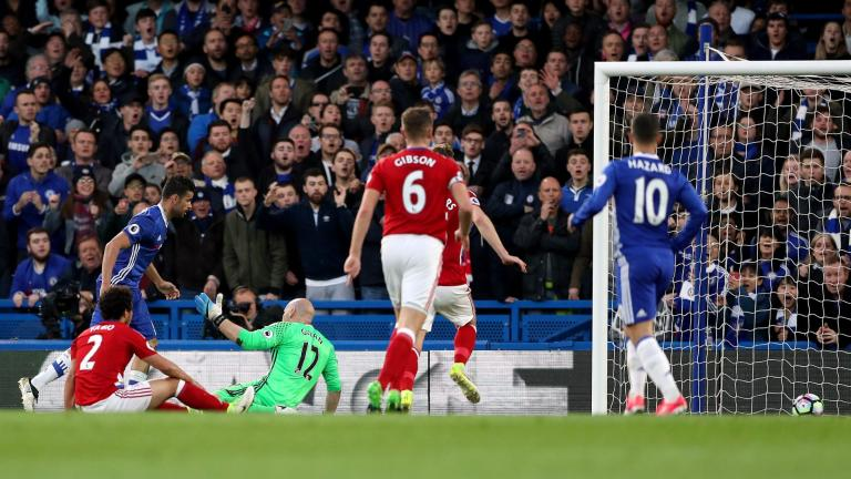 Chelsea move within one step to Premier League glory while Middlesbrough relegates