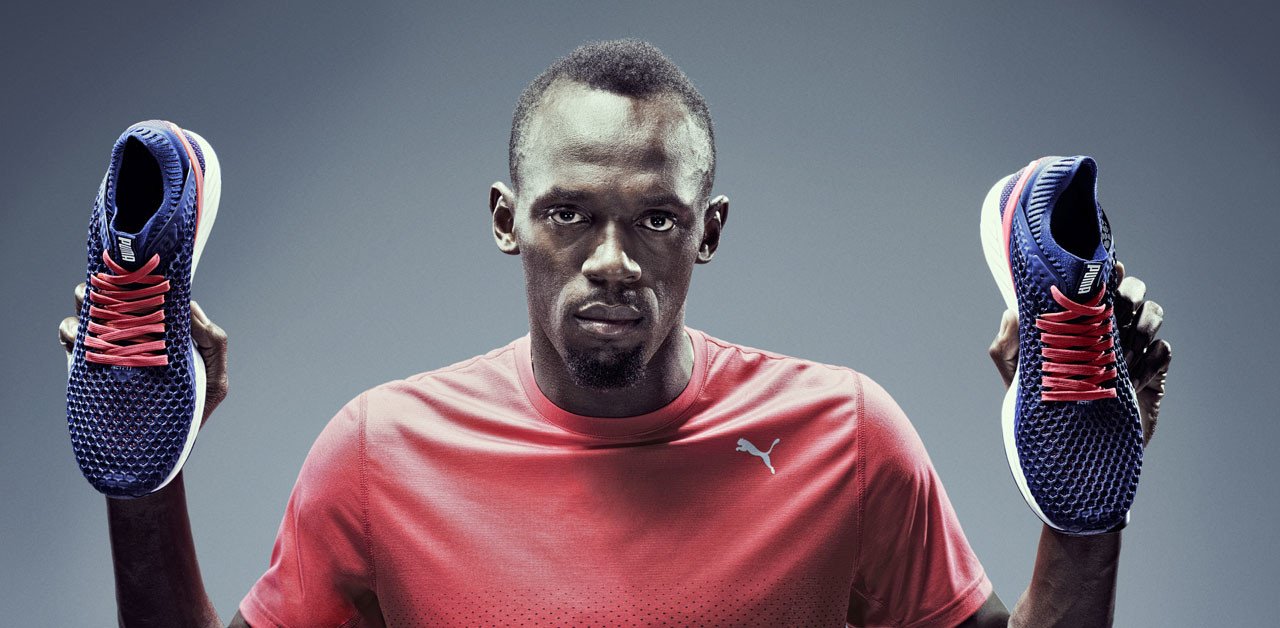 Usain Bolt launches new Puma boots in New York