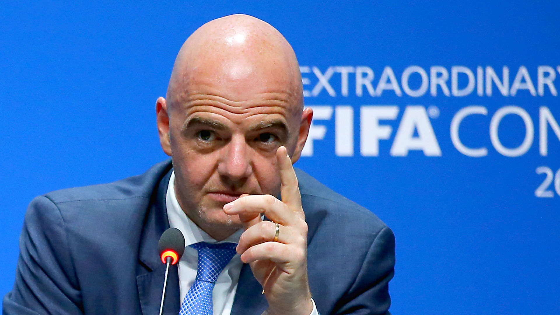 """FIFA President Gianni Infantino describes racists as """"Idiots""""."""
