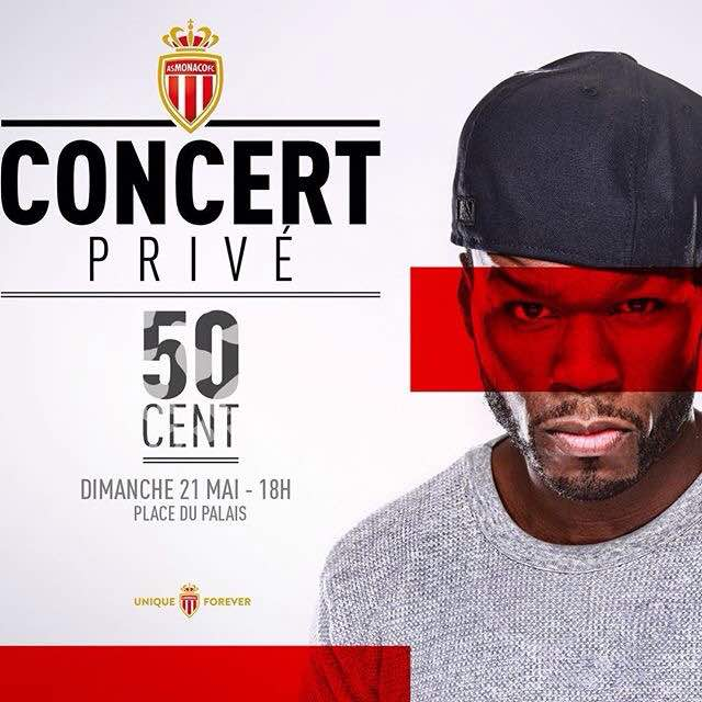 50 Cent to perform at AS Monaco's end of season bash