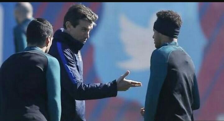 Neymar in Training Ground Burst Up with Barca's next Manager