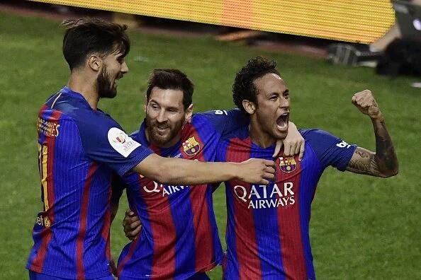 Neymar scores a record in Barca's Copa del Rey Win
