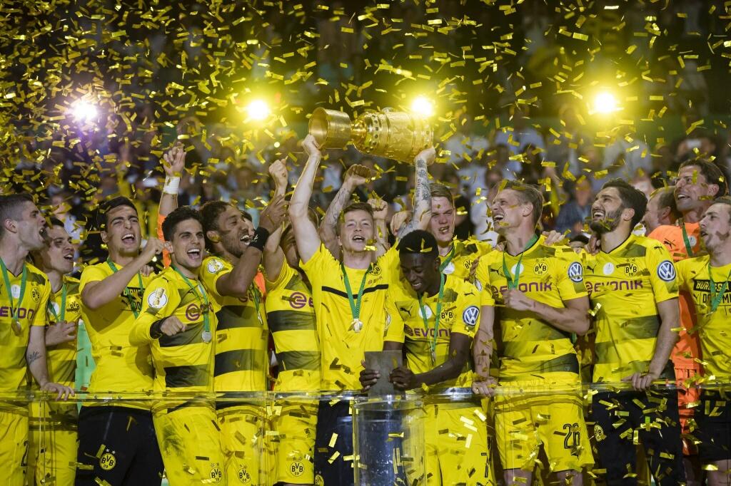 Aubameyang delivers Dortmund DFB Pokal