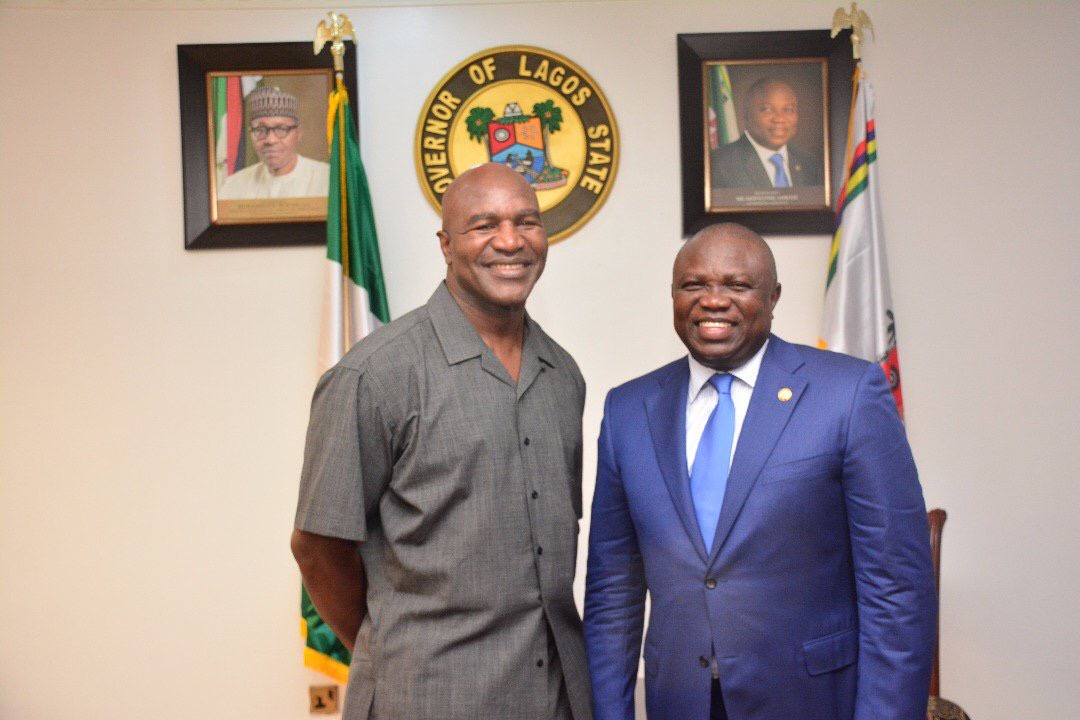 Boxer,Evander Holyfield donates $3m health facilities in Lagos