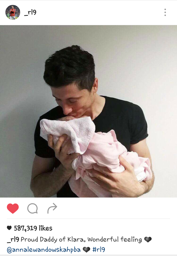 Lewandowksi : 'Wonderful feeling' after Welcoming first Child