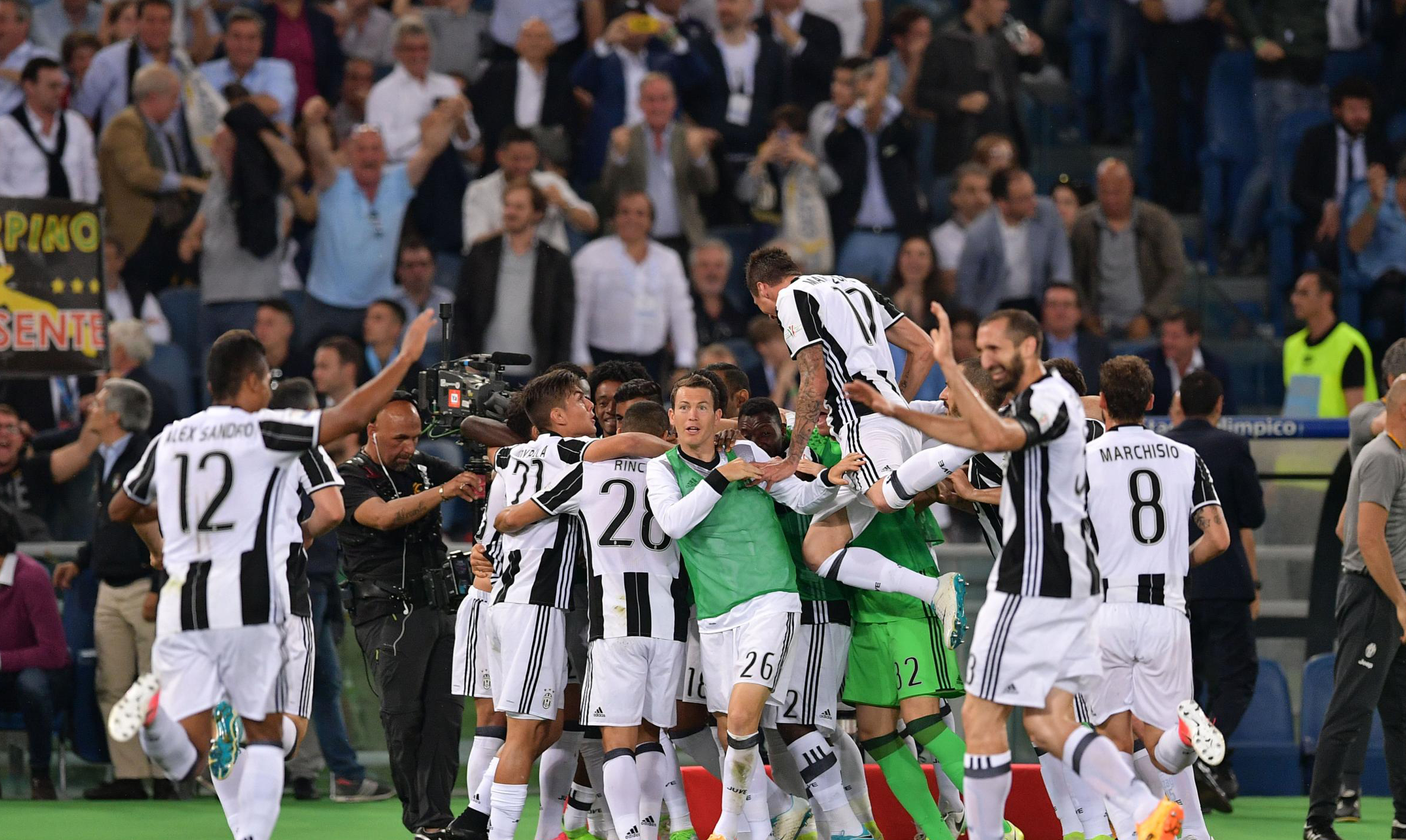 Three Coppa Italia in a row, Bonucci, Alves gives Juventus first trophy of the season.
