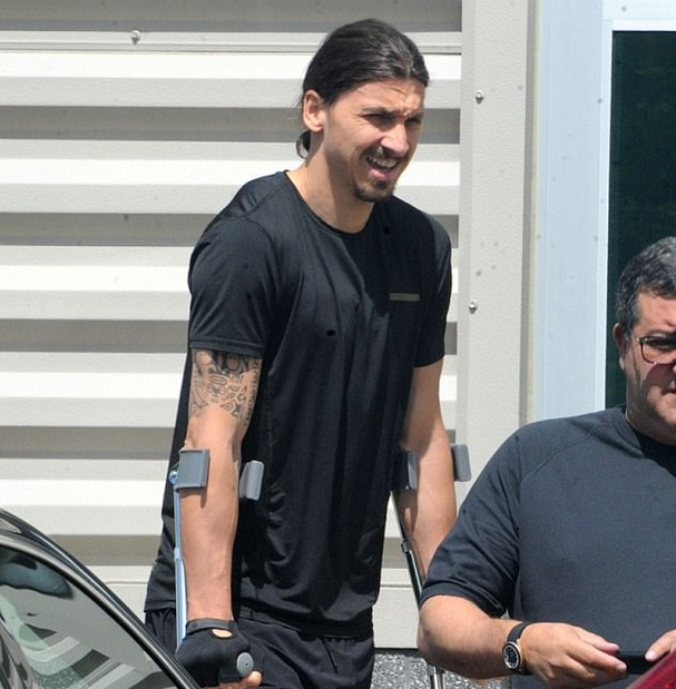 Zlatan Walks again ( in Crutches )! Doctors so Amazed they want to Research His Knees