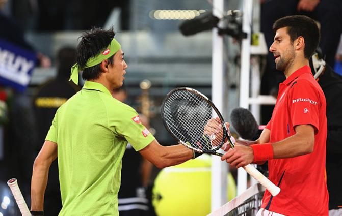 Madrid Open 2017: Novak Djokovic into semi-finals after Kei Nishikori's withdrawal
