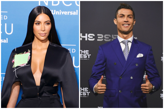 Cristiano Ronaldo's former Beau Kim Kardashian hits 100million IG Followers ( He got those figures in May 2017)