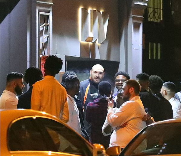 Tyson Fury spotted enjoying a night out but uncertainty over return rumbles on