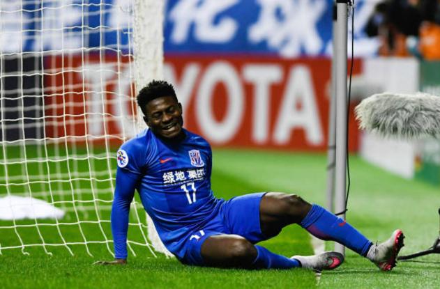 Obafemi Martins Scores but Shanghai Shenhua Lose