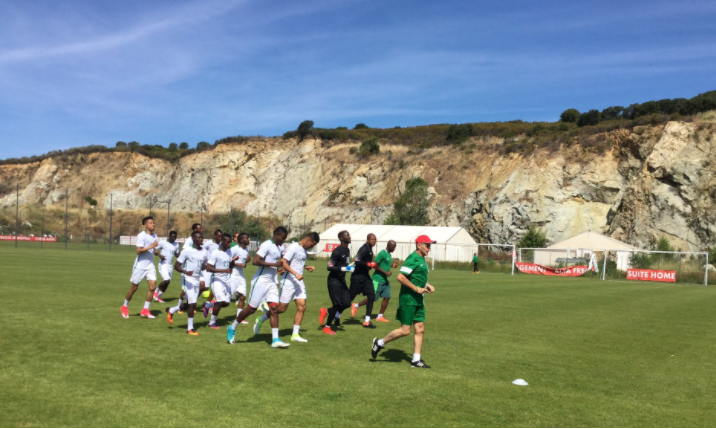 Gernot Rohr leads first Corsica training session, Eagles in all white