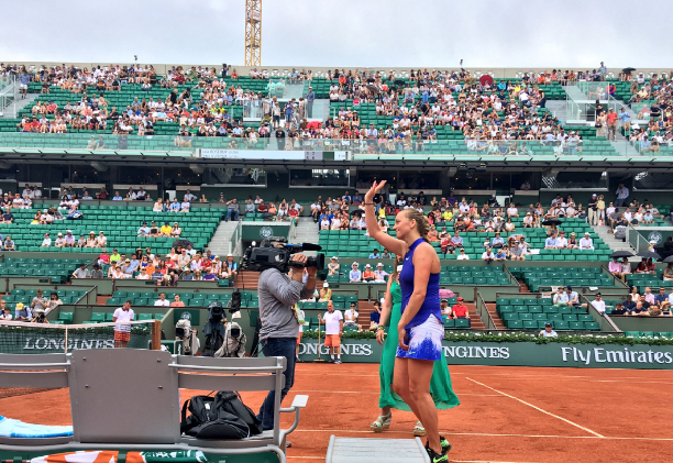 French Open: Petra Kvitova wins first match following knife attack