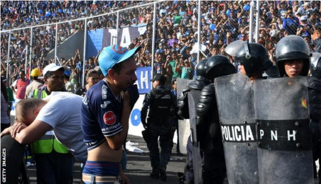 Four fans killed in stampede at game in Honduras